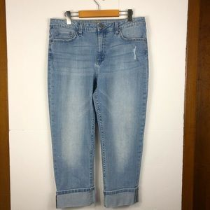 Riders by Lee mid rise crop jeans Sz 14